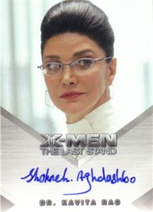 Shohreh Aghdashloo certified autograph X-Men The Last Stand card