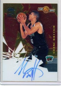 Shane Battier certified autograph 2001-02 Topps Chrome Rookie Card