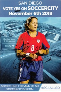 Shannon MacMillan autographed US Soccer 6x9 photo card