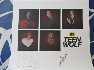 Shelley Hennig & Holland Roden autographed Teen Wolf 2015 Comic-Con lithograph or poster