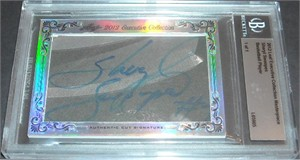Sheryl Swoopes certified autograph 2012 Leaf Executive Masterpiece Cut Signature card #1/1