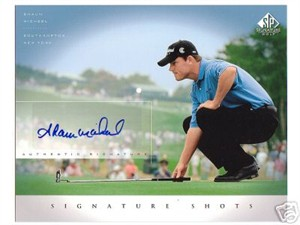 Shaun Micheel certified autograph SP Signature Golf 8x10 photo card