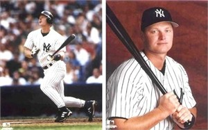 Shane Spencer set of two 8x10 New York Yankees photos