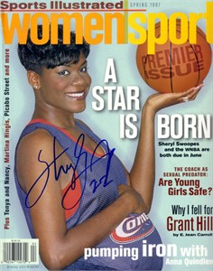 Sheryl Swoopes autographed WNBA Houston Comets 1997 Sports Illustrated WomenSport magazine