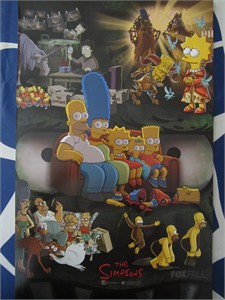 The Simpsons 2015 San Diego Comic-Con mini 11x17 inch FOX promo poster MINT