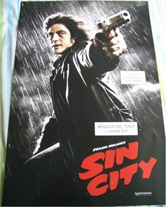 Sin City mini movie poster (Benicio Del Toro as Jackie Boy)