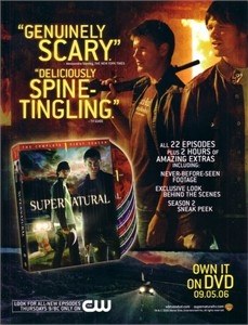 Smallville & Supernatural 2006 Comic-Con jumbo promo card