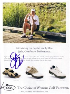 Sophie Gustafson autographed golf magazine ad