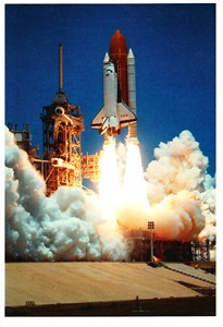 Space Shuttle Columbia 1994 launch NASA postcard