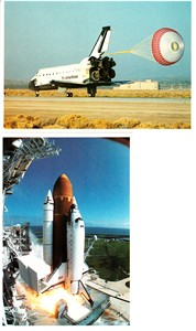 Space Shuttle Columbia 1993 launch and landing 1994 NASA postcard set (2)