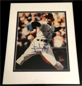 Sparky Lyle autographed New York Yankees 8x10 photo matted & framed