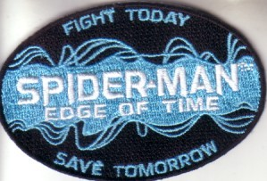 Spider-Man Edge of Time video game 2011 Comic-Con promo embroidered patch