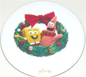Spongebob SquarePants Patrick Star Christmas 2012 Comic-Con Nickelodeon promo button or pin