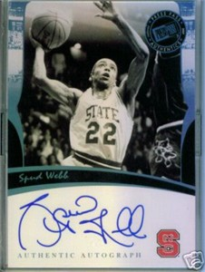 Spud Webb certified autograph North Carolina State 2007 Press Pass card