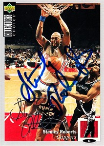 Stanley Roberts autographed Los Angeles Clippers 1994-95 Collector's Choice card