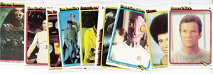 Star Trek The Motion Picture lot of 9 different 1979 Topps trading cards