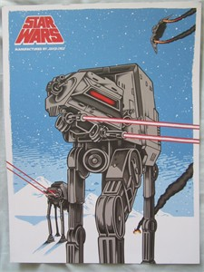 Star Wars AT-AT artwork 9x12 inch mini promo poster or print (2016 Comic-Con exclusive)