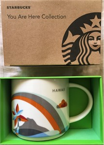 Starbucks 2013 You Are Here Collection Hawaii 14 ounce collector coffee mug NEW