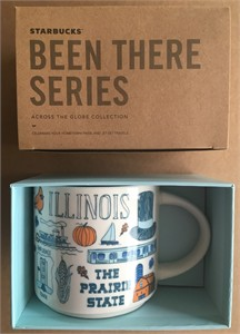 Starbucks 2018 Been There Series Illinois 14 ounce collector coffee mug NEW