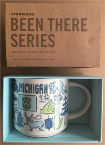Starbucks 2018 Been There Series Michigan 14 ounce collector coffee mug NEW