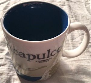 Starbucks 2008 Global Icon Series Acapulco 16 ounce collector coffee mug NEW