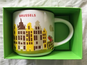 Starbucks 2013 You Are Here Collection Brussels 14 ounce collector coffee mug NEW