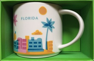 Starbucks 2013 You Are Here Collection Florida 14 ounce collector coffee mug NEW
