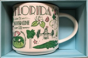 Starbucks 2018 Been There Series Florida 14 ounce collector coffee mug NEW
