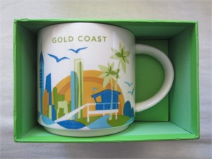 Starbucks 2013 You Are Here Collection Gold Coast 14 ounce collector coffee mug NEW
