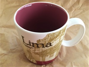 Starbucks 2008 Global Icon Series Lima (Peru) 16 ounce collector coffee mug NEW