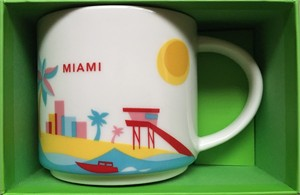 Starbucks 2013 You Are Here Collection Miami 14 ounce collector coffee mug NEW