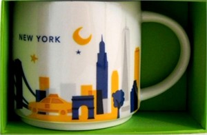 Starbucks 2013 You Are Here Collection New York City 14 ounce collector coffee mug NEW