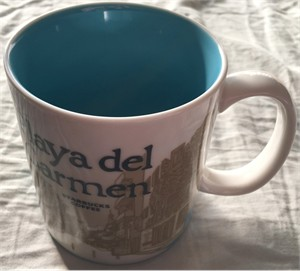 Starbucks 2008 Global Icon Series Playa del Carmen 16 ounce collector coffee mug NEW