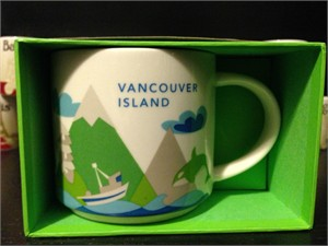 Starbucks 2013 You Are Here Collection Vancouver Island 14 ounce collector coffee mug NEW