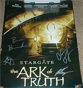 Stargate Ark of Truth autographed movie poster Ben Browder Christopher Judge