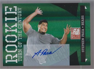 Stephen Paea Chicago Bears certified autograph 2011 Donruss Elite Rookie Card #/499