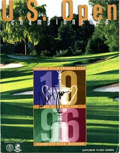 Steve Jones autographed 1996 U.S. Open golf program