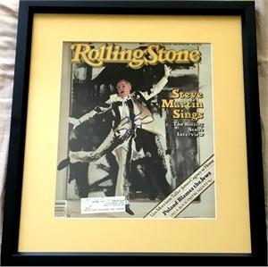 Steve Martin autographed 1982 Rolling Stone magazine cover matted & framed