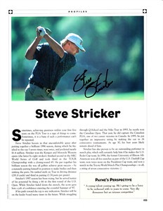 Steve Stricker autographed 2010 Golf World magazine