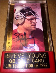 Steve Young certified autograph San Francisco 49ers 1991 Pro Line card