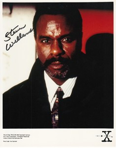 Steven Williams autographed X-Files 8x10 photo