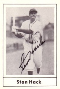 Stan Hack autographed Chicago Cubs 1978 Grand Slam card