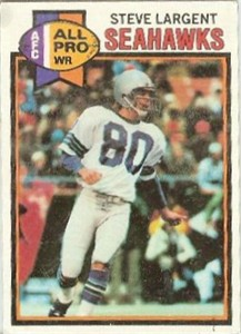 Steve Largent Seattle Seahawks 1979 Topps card #198 Ex