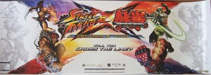 Street Fighter X Tekken Capcom 10x30 inch 2012 Wondercon promo poster MINT