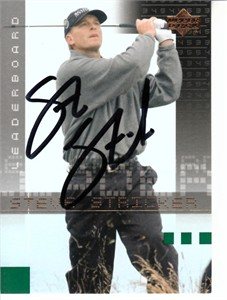 Steve Stricker autographed 2002 Upper Deck golf card