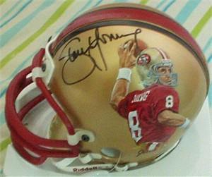 Steve Young autographed San Francisco 49ers mini helmet painted by Jolene Jessie (1/1)
