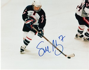 Sue Merz autographed 1998 USA Hockey 8x10 photo