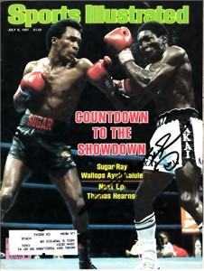 Sugar Ray Leonard autographed 1981 Sports Illustrated