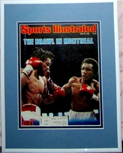 Sugar Ray Leonard autographed 1980 Brawl in Montreal Sports Illustrated cover matted & framed