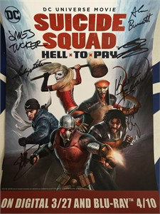 Suicide Squad Hell to Pay movie cast autographed 2018 Wondercon poster (Greg Grunberg Liam McIntyre)
